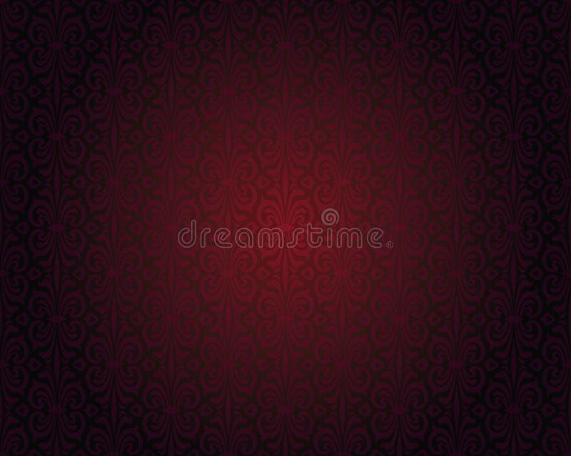 Dark red wallpaper repitable gradient vector background royalty free illustration