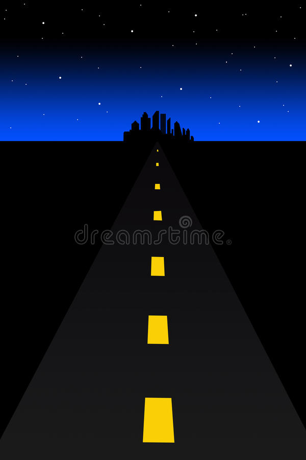 Download Dark road stock illustration. Illustration of forward - 15891989