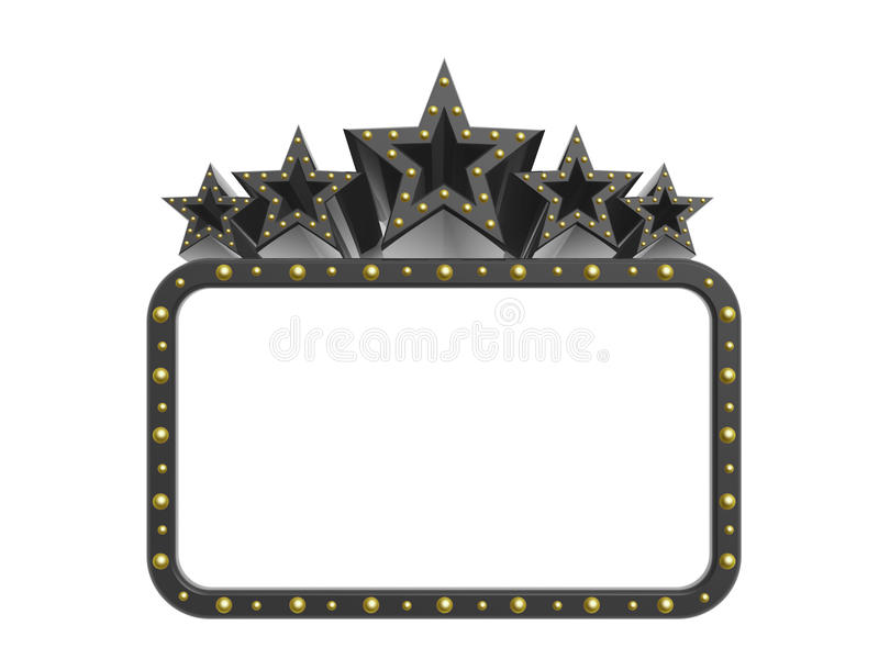 Dark rock super stars. White board isolated on white background royalty free illustration