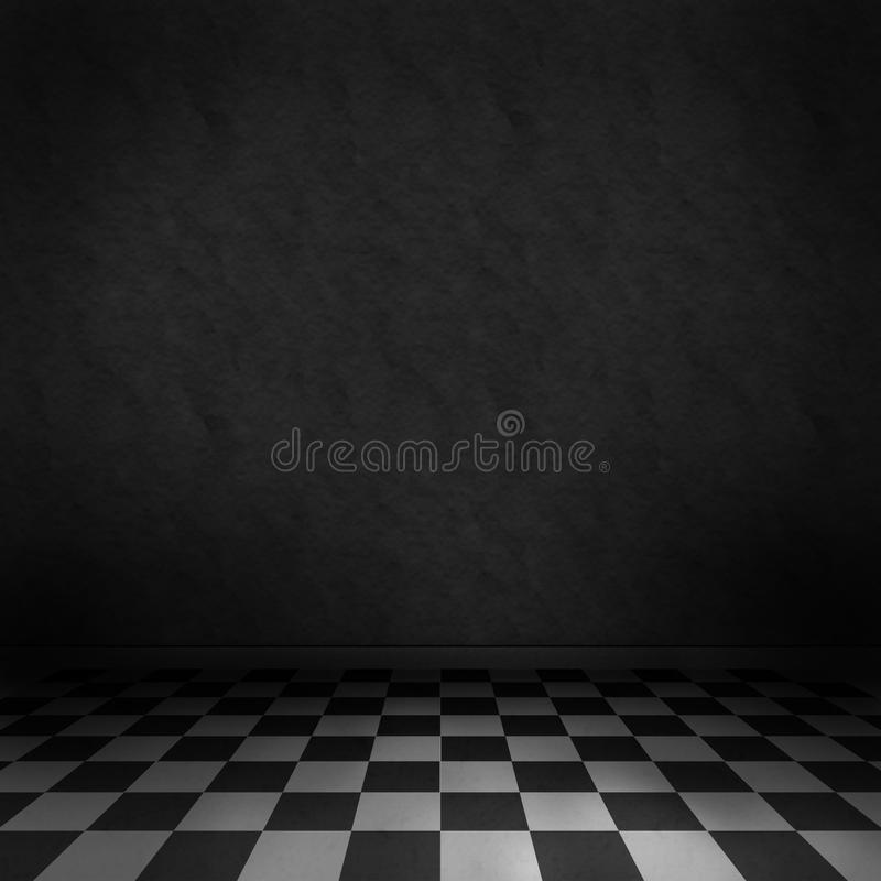 Dark Room Background Stock Illustration. Illustration Of