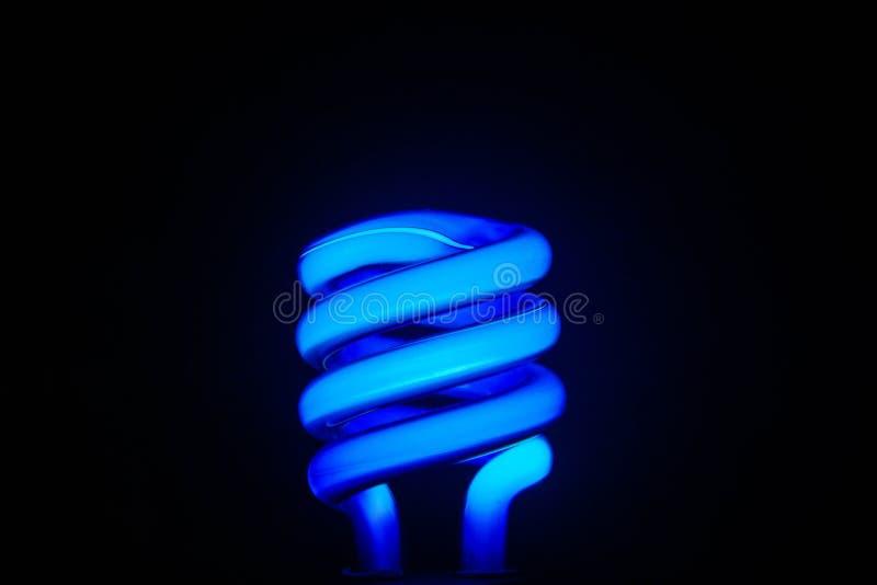 Dark Room & Blue Neon Light royalty free stock photos