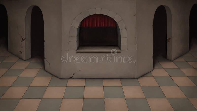 Dark room with a window.