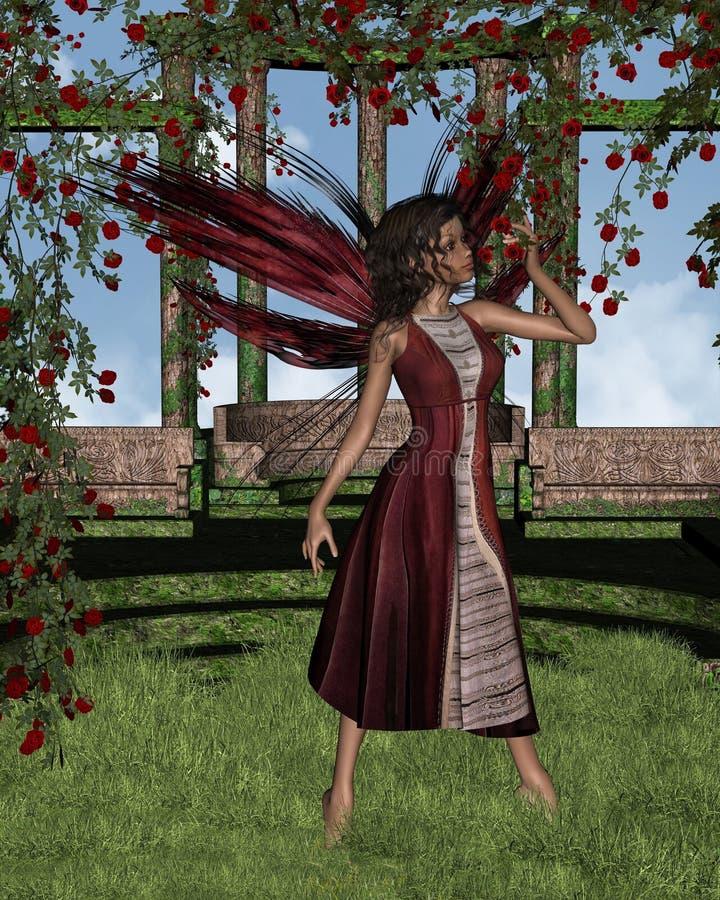 Download Dark Rose Fairy With Background Stock Illustration - Illustration: 9438099