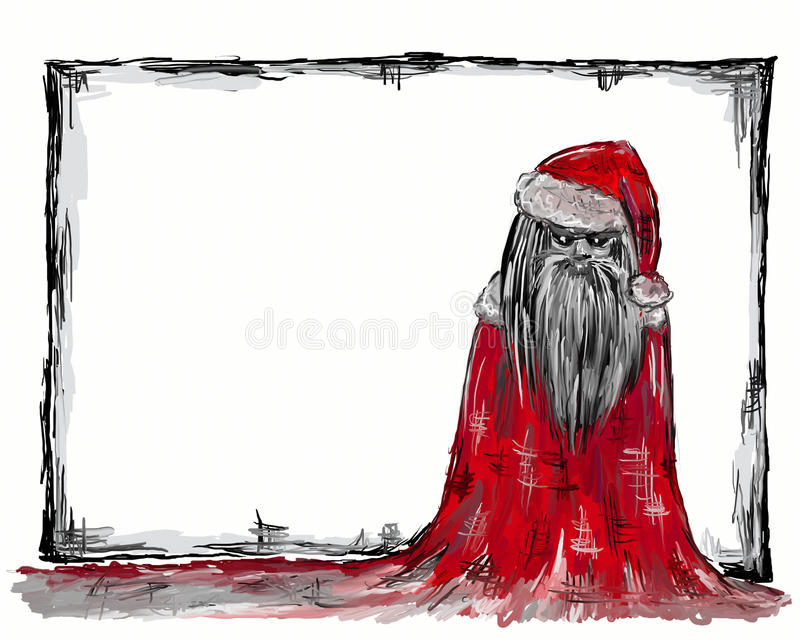 Dark santa royalty free illustration