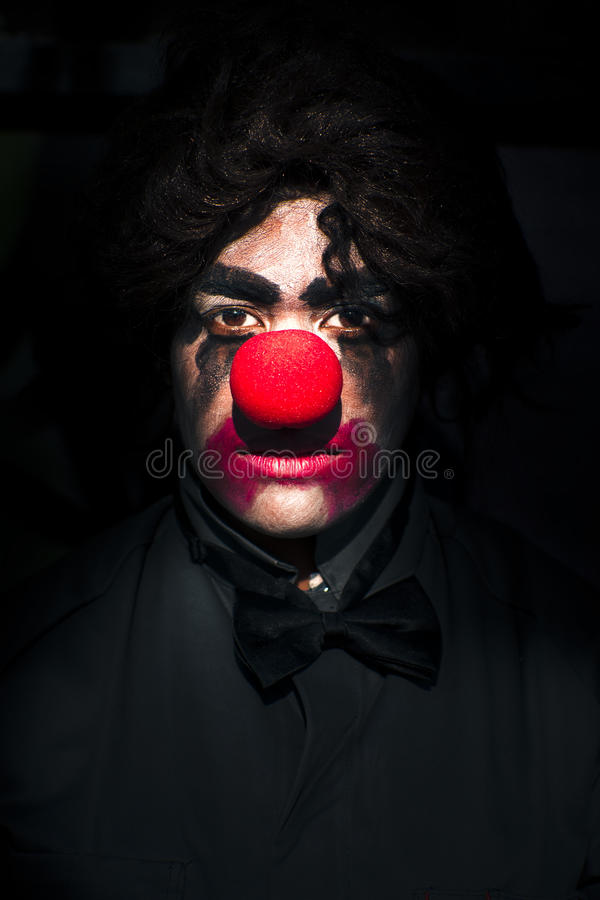 Download Dark Scary Clown stock image. Image of portrait, horror - 17744271