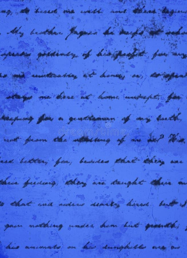 DARK SCRIPT POWDER BLUE BACKGROUND royalty free stock photos
