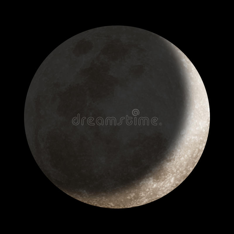 Download Dark shadow over moon stock illustration. Image of outside - 17671551