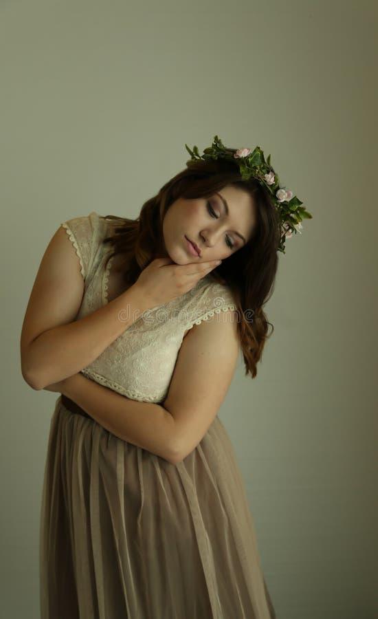 Dark shot of woman royalty free stock photo