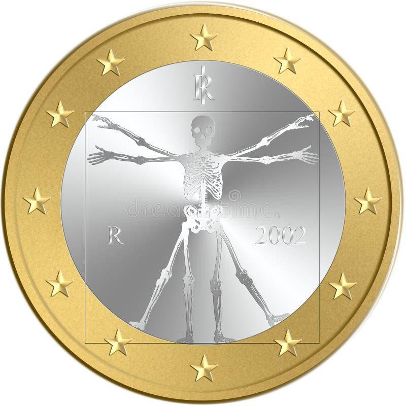 Euro coin stock illustration