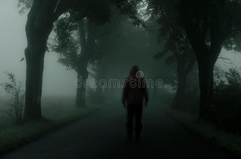 Dark silhouette royalty free stock photography