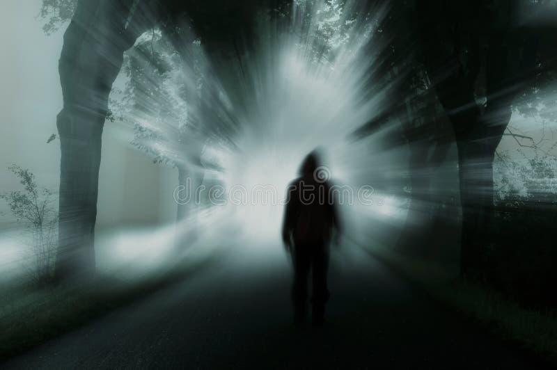 Dark silhouette. Silhouette of man in dark atmosphere stock images