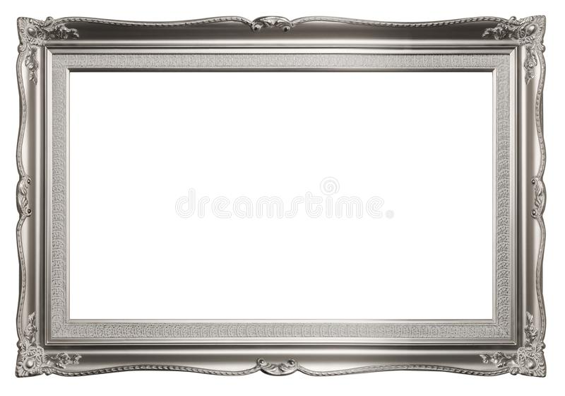Dark Silver Elegant Picture Frame stock photography