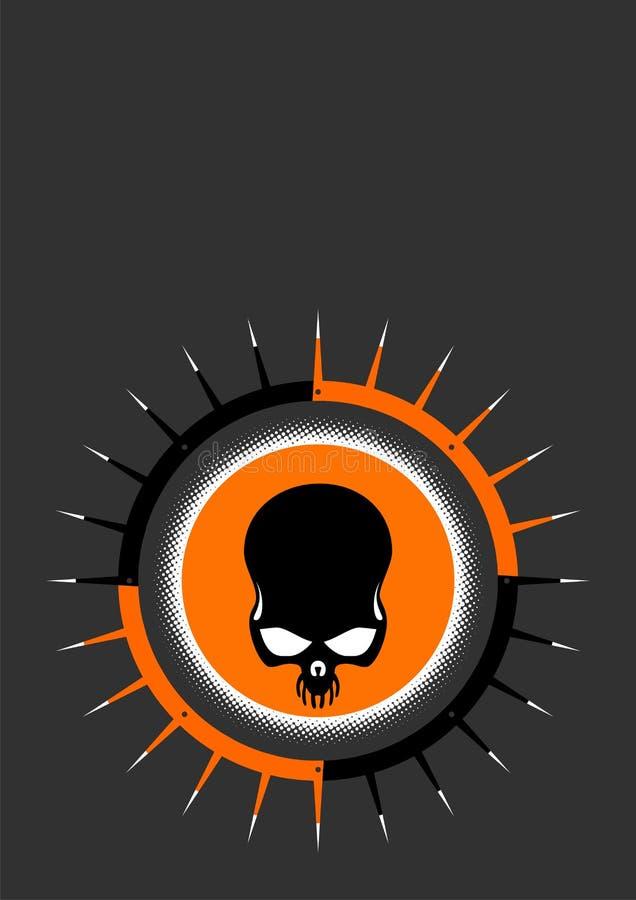Download Dark skull pikes graphic stock vector. Illustration of black - 3879245