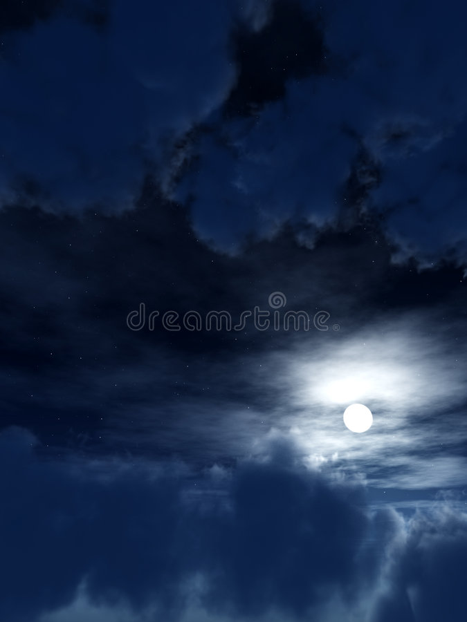 Download Dark Sky 3 stock illustration. Image of moon, cloudy, cloudscape - 3799323