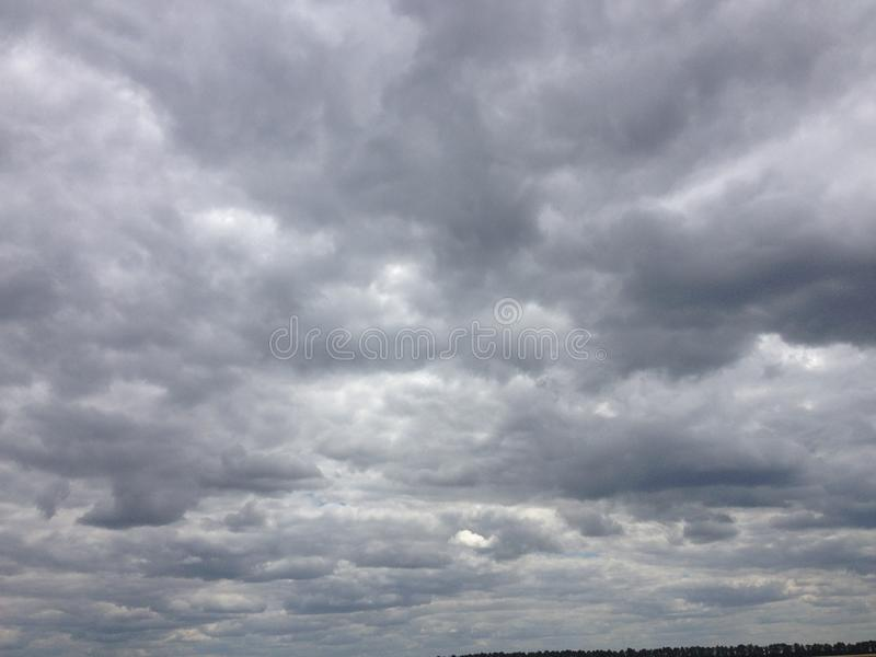Dark sky with clouds royalty free stock photos