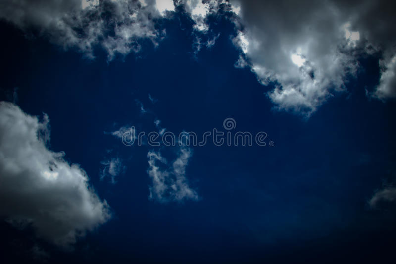 Dark sky and cloudy. Background stock images