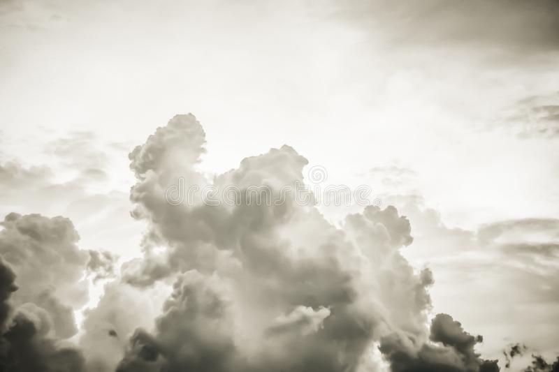 Dark sky and dramatic black cloud before rainy . Black Clouds on Sky , Dark Background,Wallpaper royalty free stock photo