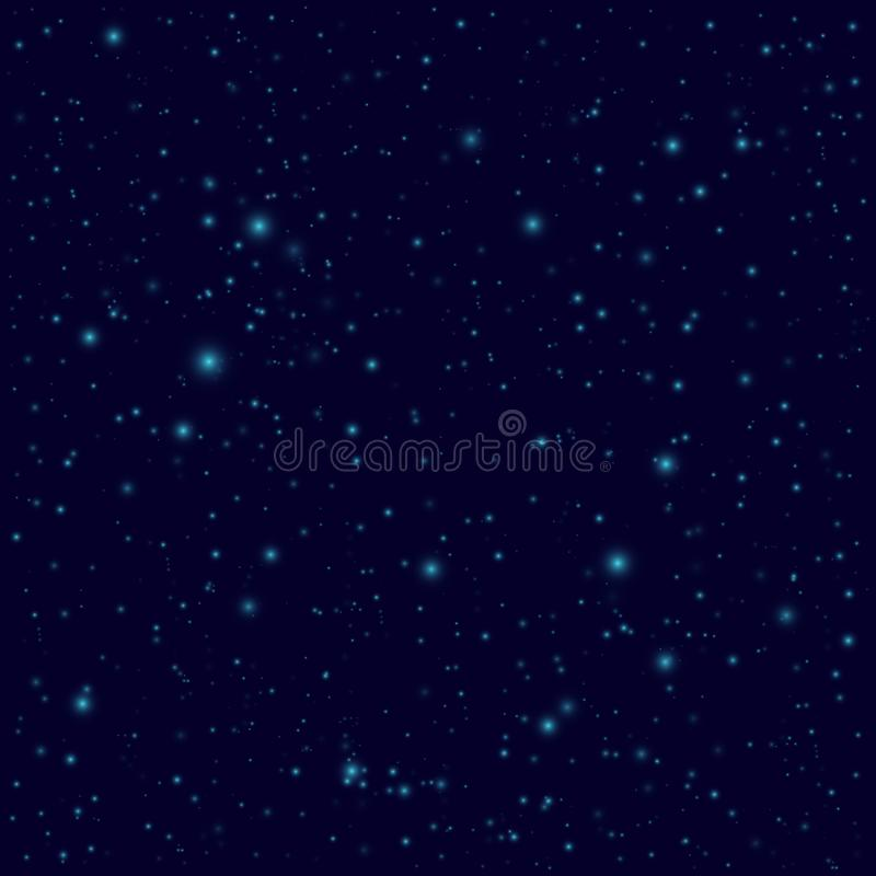 Dark sky with stars. Vector space seamless background vector illustration