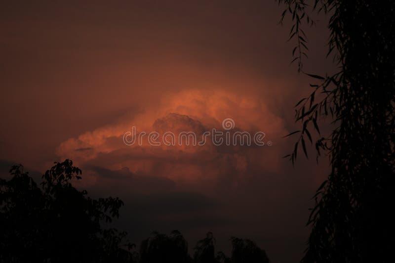 Dark sky stock photo