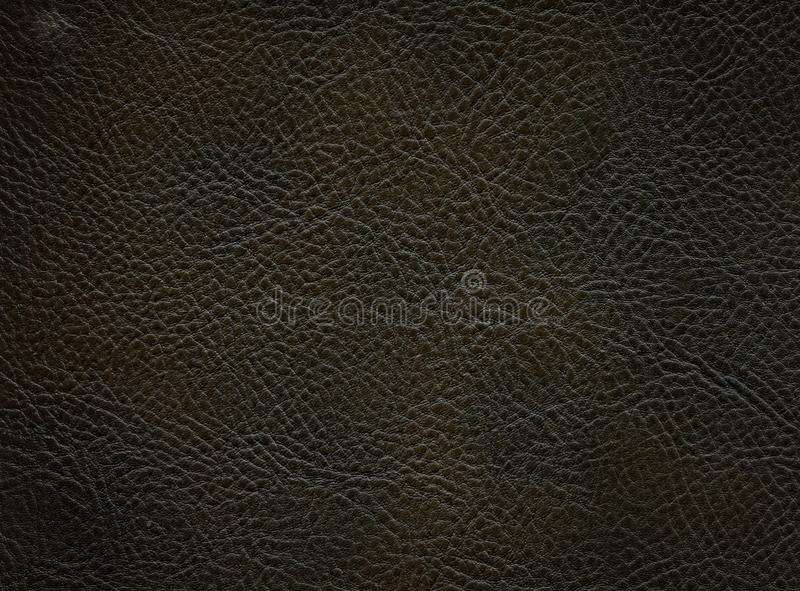 Dark smooth leather texture stock photography