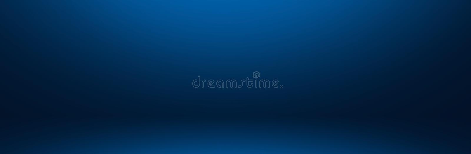 dark and soft blue abstract cement wall and studio room gradie royalty free stock photo