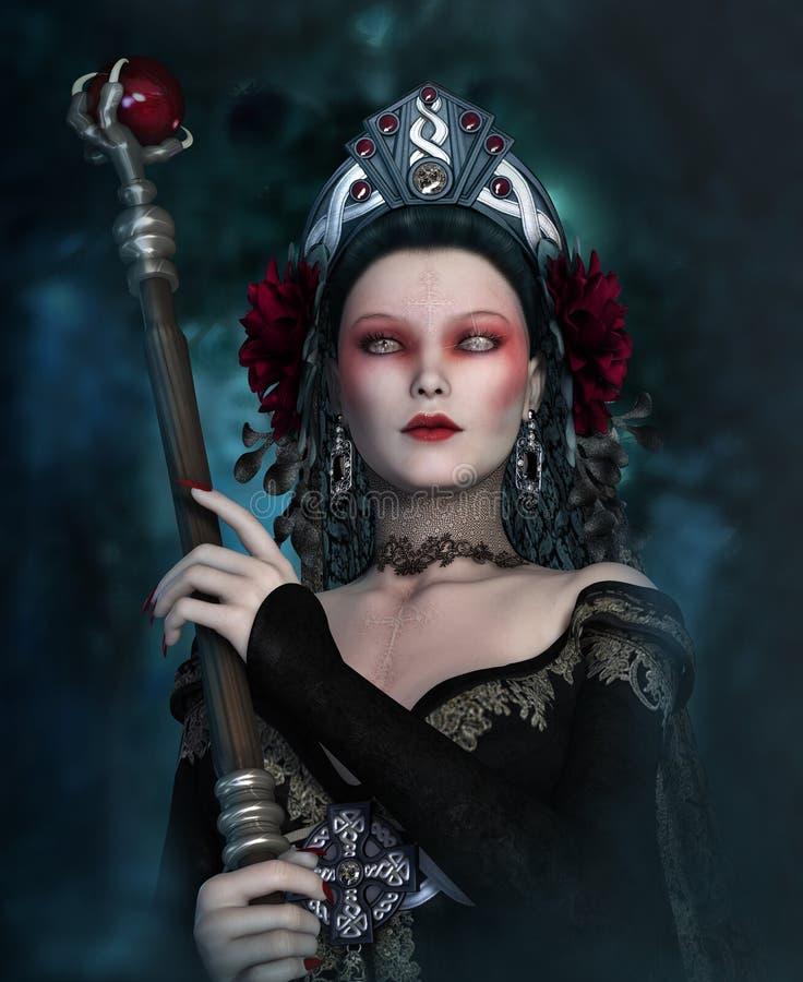 The Dark Sorceress 3d Cg Stock Illustration Illustration