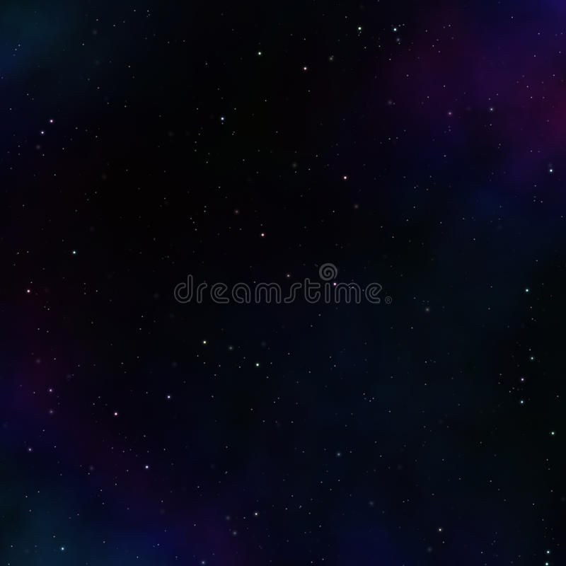 Download Dark Space Background With Clouds Stock Illustration