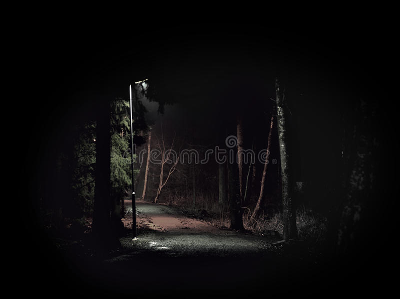 Dark spooky path royalty free stock photos
