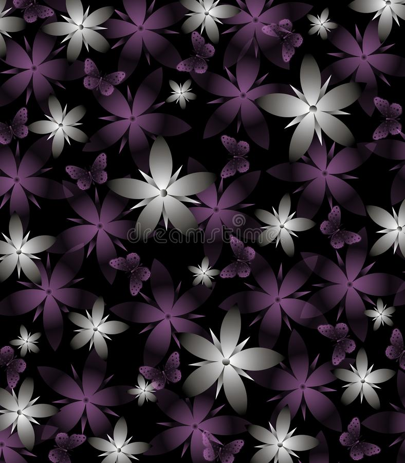Dark spring background with gray and purple flowers on black stock download dark spring background with gray and purple flowers on black stock illustration illustration thecheapjerseys Choice Image