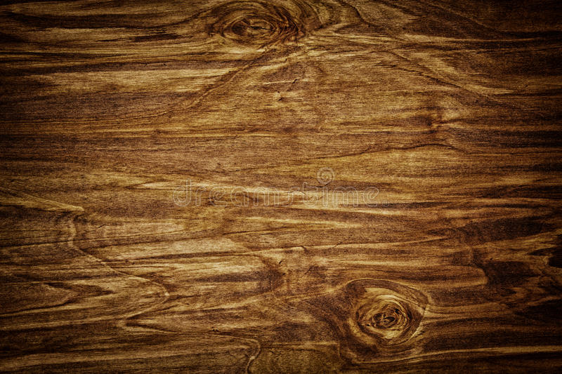Dark Stained Distressed Wooden Floor Board Texture Stock