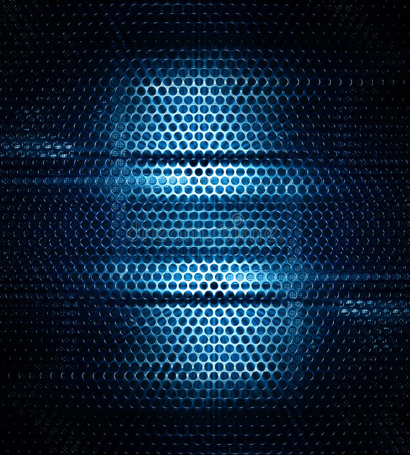 Dark stainless metal texture. Background with blue light effect