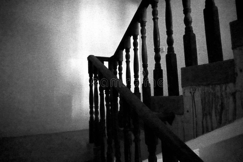 Dark stairs a staircase corner royalty free stock photography