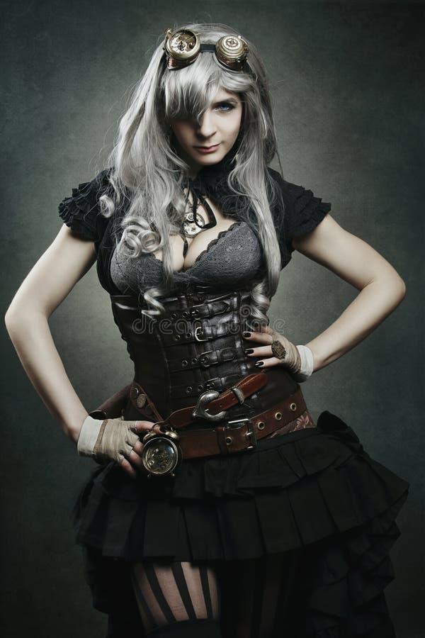 Dark steampunk vampire royalty free stock image