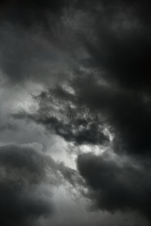 Dark storm clouds. stock photos