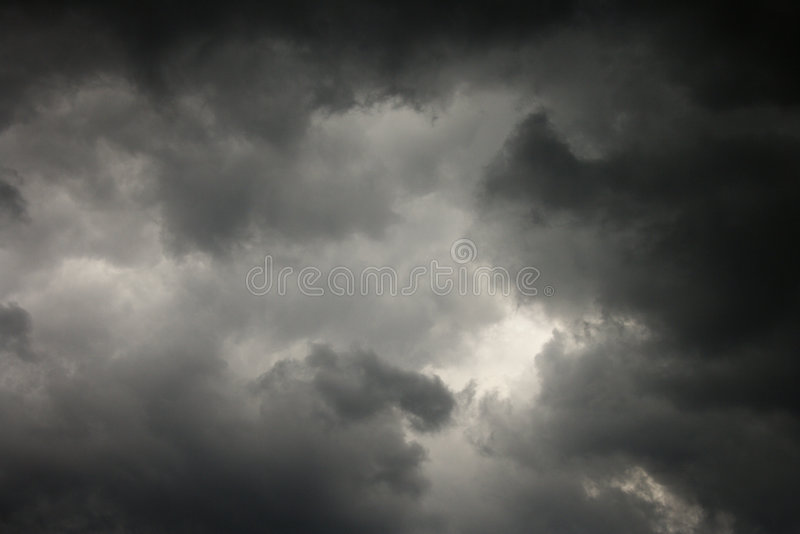 Dark storm clouds. royalty free stock photo