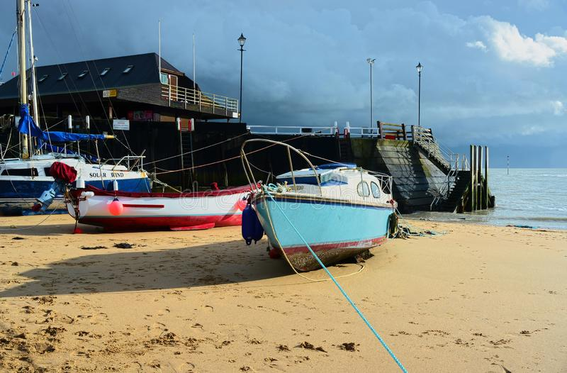 Storm CLOUDS approaching. Broadstairs, Kent,UK royalty free stock image