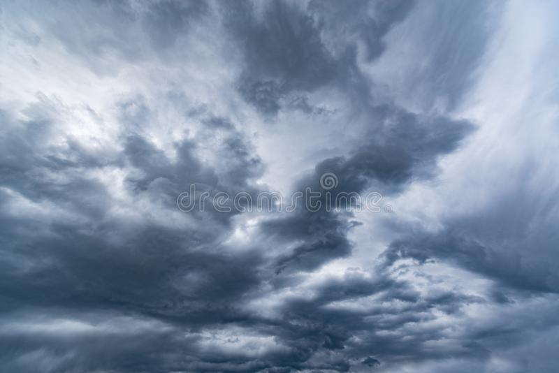Dark storm clouds. royalty free stock photos