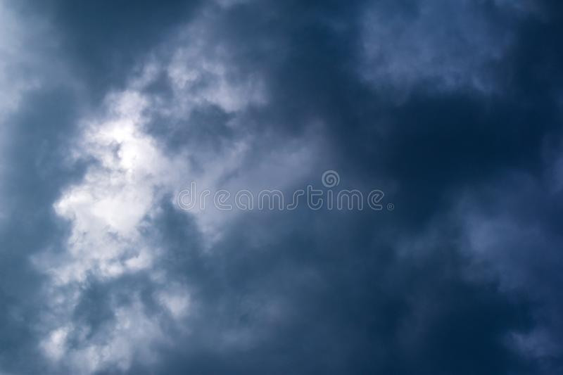 Dark storm clouds in the sky. Before rain. Dramatic background stock images