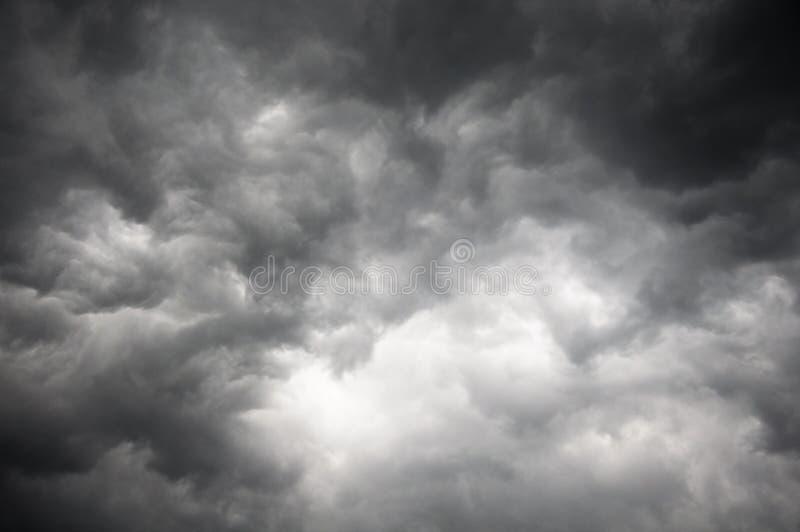 Dark storm sky. With light part royalty free stock photo