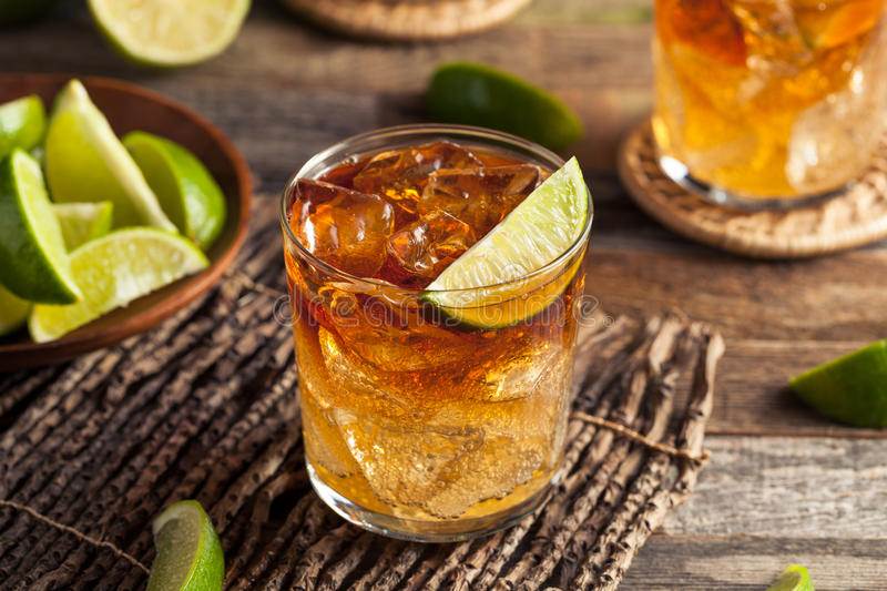 Dark and Stormy Rum Cocktail royalty free stock image