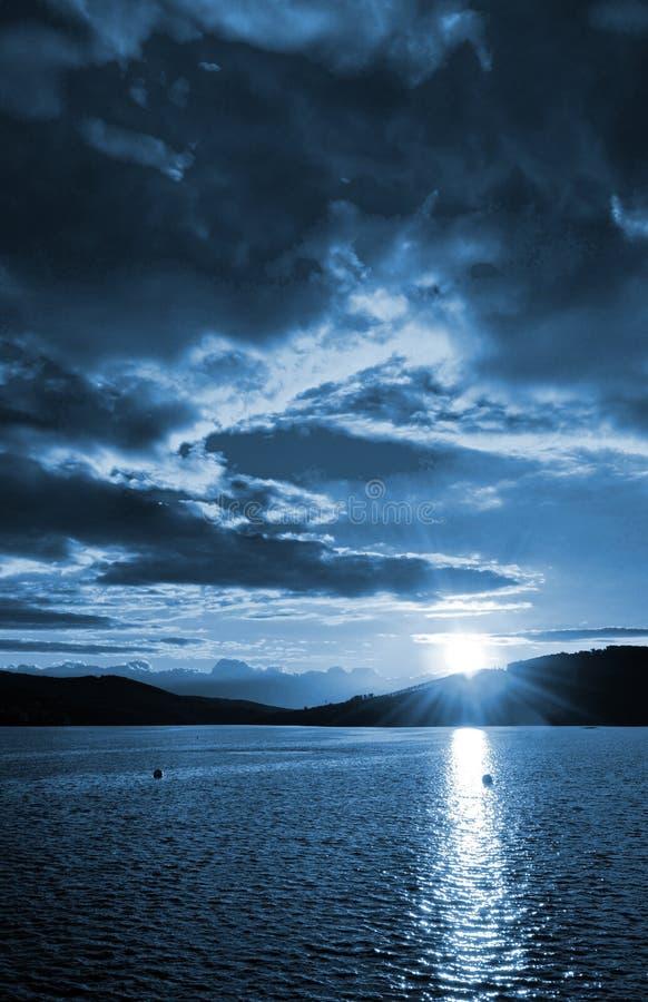Dark sunset, night landscape royalty free stock images