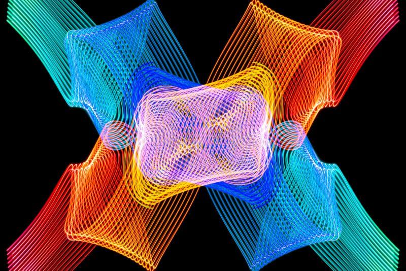 Dark tło kolorowy neonowy rozjarzony lekki shap ilustracji