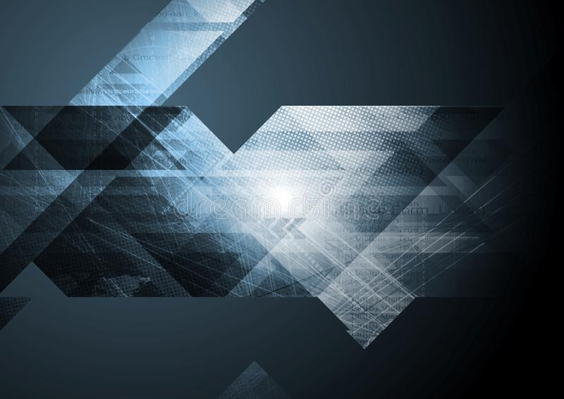 Dark tech abstract background royalty free illustration