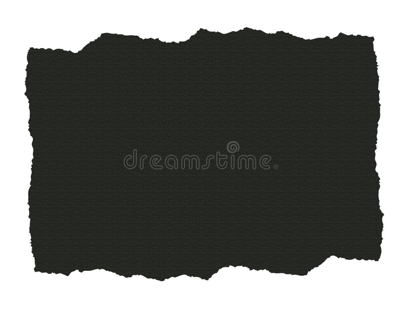 Dark Textured Paper Ripped Stock Photography