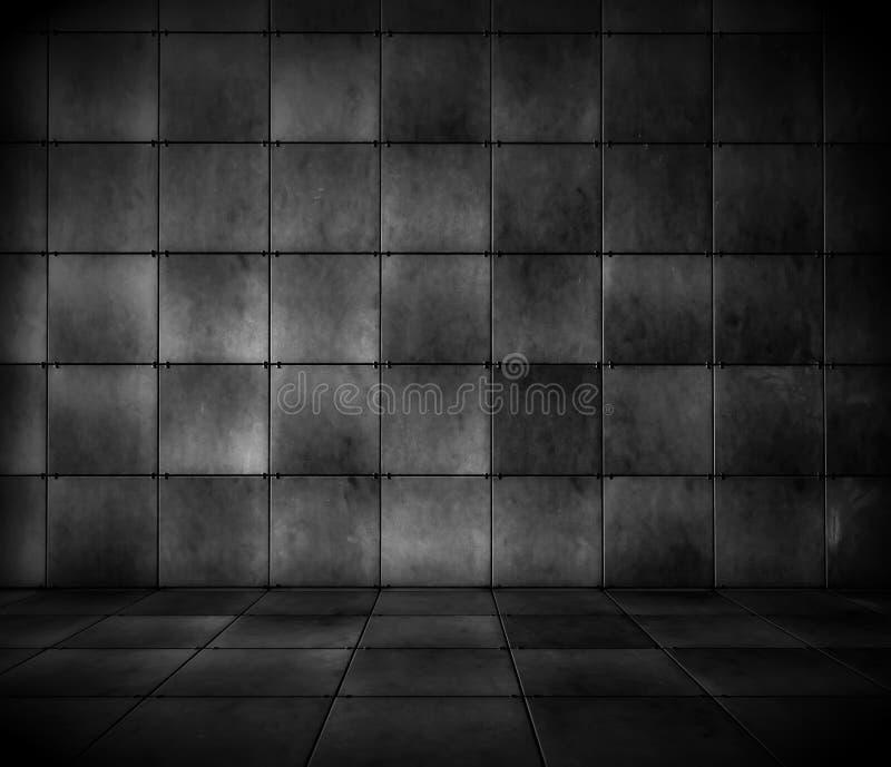 Download Dark Tiled Room stock image. Image of blank, fright, abandoned - 11955973