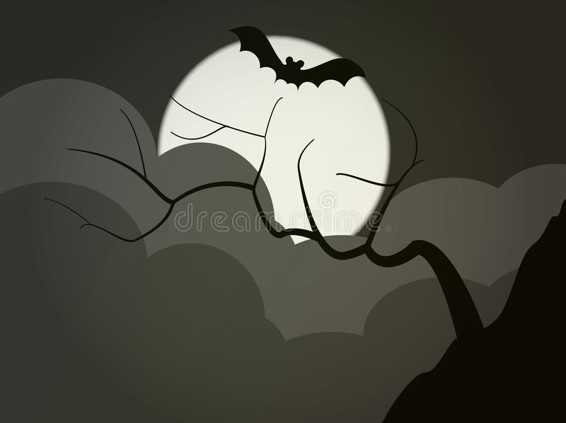 Download Dark tree stock vector. Image of leaves, style, halloween - 22029000