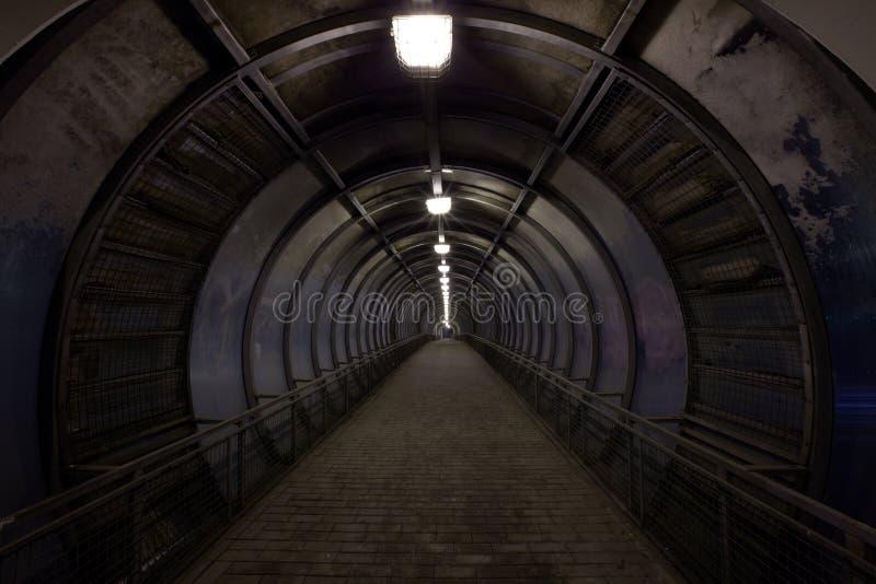 Dark tunnel royalty free stock photography