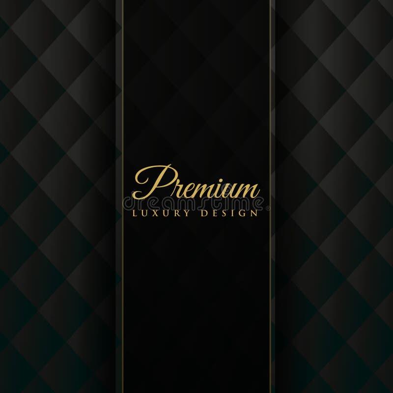 Dark upholstery premium invitation background stock illustration