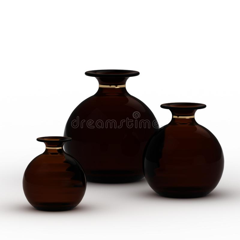 Download Dark vases stock illustration. Illustration of illustration - 24884097