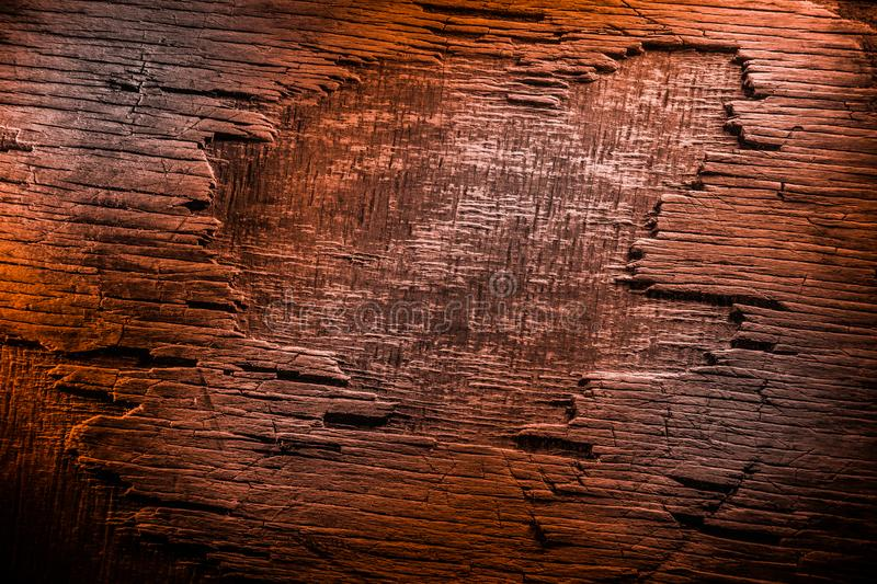 Dark vintage wood texture. Close up view of old grunge dark wooden surface. Selective stock photography